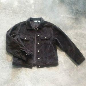 J. Jill Chocolate Brown Corduroy Jacket M